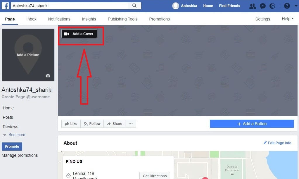 So, how to add a cover picture